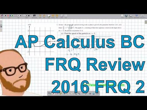 Calculus BC Free Response 2016 FRQ 2