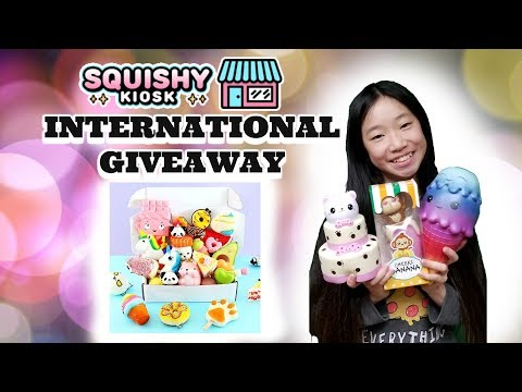FIRST SQUISHY PACKAGE EVER FROM SQUISHY KIOSK PLUS INTERNATIONAL GIVEAWAY!!! KAWAII SQUISHIES