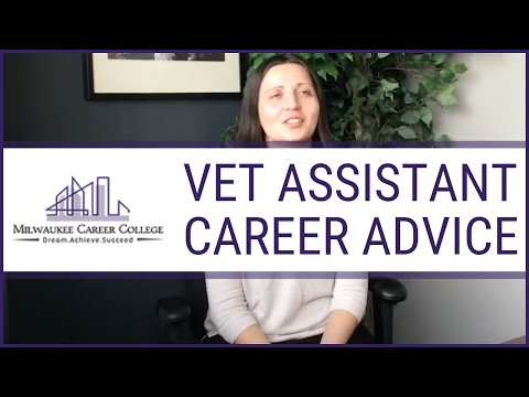 Career Advice from Vet Assistant Training Graduate
