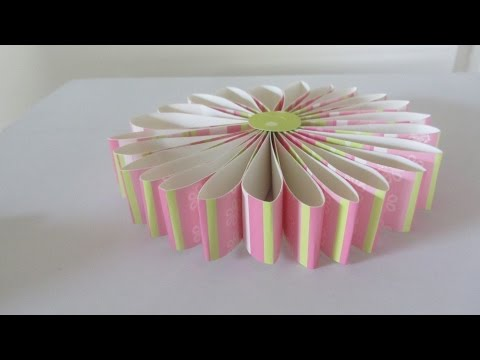 How to Make a Scrapbook Rosette Paper Flower Gift Topper Craft Tutorial