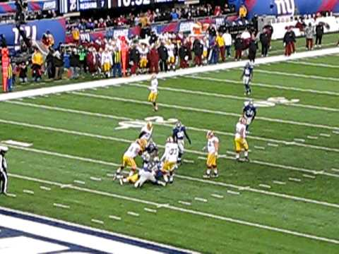 New York Giants sack Redskins McNabb