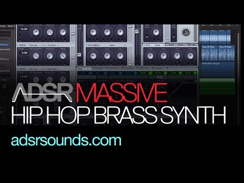 NI Massive tutorial - Hip Hop Brass Synth