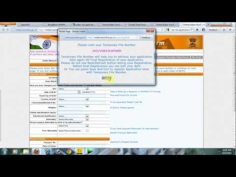 Online Indian Visa Application Form