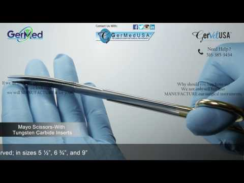 Mayo Dissecting Scissors- Tungsten Carbide Inserts - Veterinary Surgical Equipment