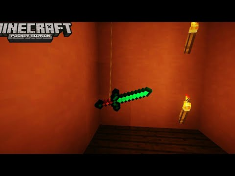 MCPE 1.2 How To Hang Items | Command Block Creation