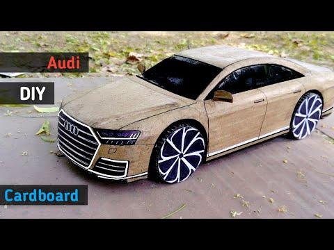 How to make a rc Car | Audi A8 2018 | Cardboard RC Car | DIY Cardboard Audi RC Car | rc Super CAR