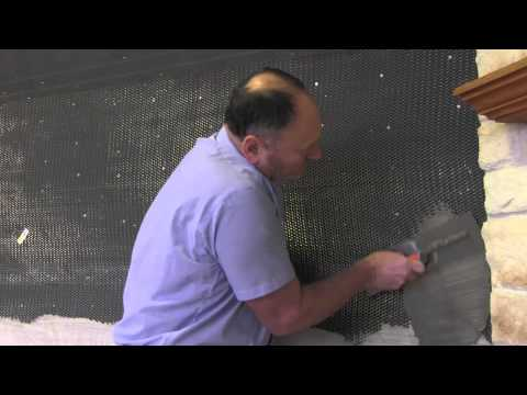 Step 2   Applying the scratch coat: Stone Veneer Installation