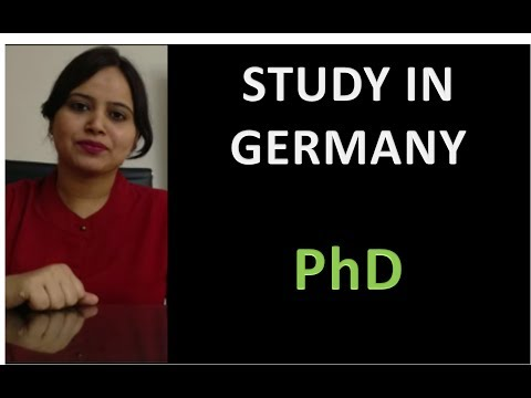 Study in Germany - PhD in Germany