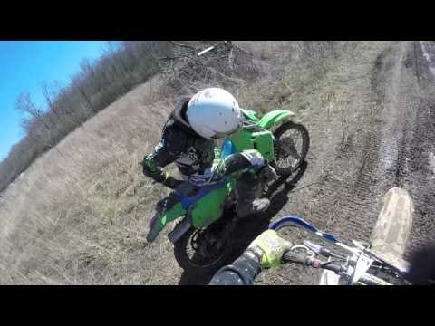 The ride back with 3 broken ribs and broken shift lever