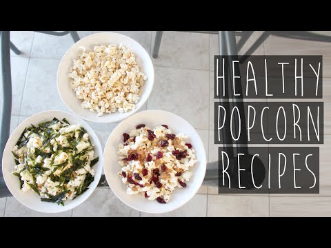 How to | 3 Quick & Easy Healthy Popcorn Topping Recipes | Eva Chung