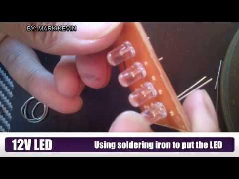 DIY: Tutorial how to make 12V LED Light Without Resistor