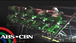 Roller coaster glitch caught on cam