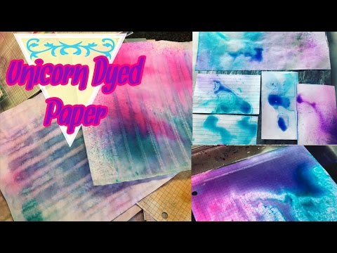 Unicorn Dye Paper for Junk Journals | I'm A Cool Mom
