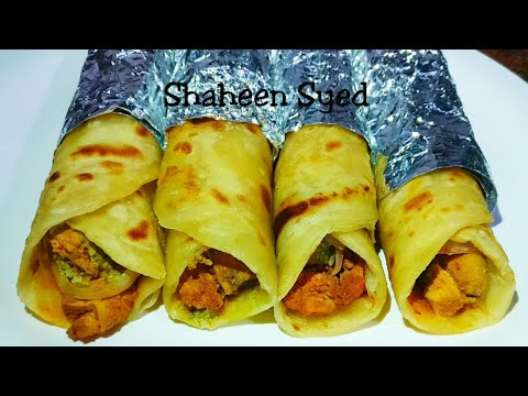 Easy Chicken Paratha Roll Recipe In Hindi (with english subtitles) Ramadan Recipes
