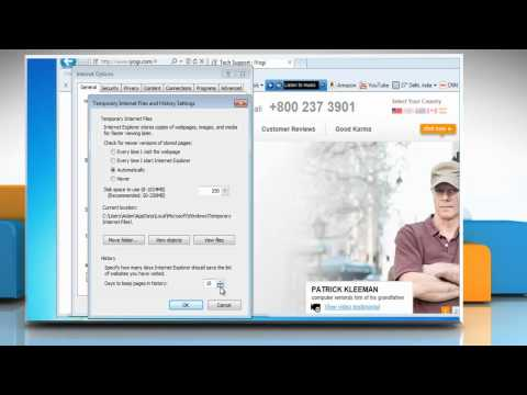 How to stop Internet Explorer® 9 from saving browsing history in Windows® 7
