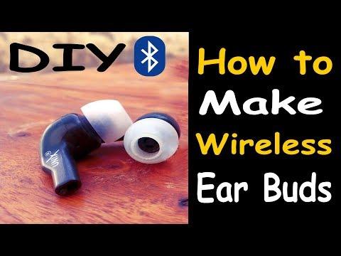 How to make wireless earbuds at home DIY || कैसे घर पर वायरलेस earbuds बनाने के लिए