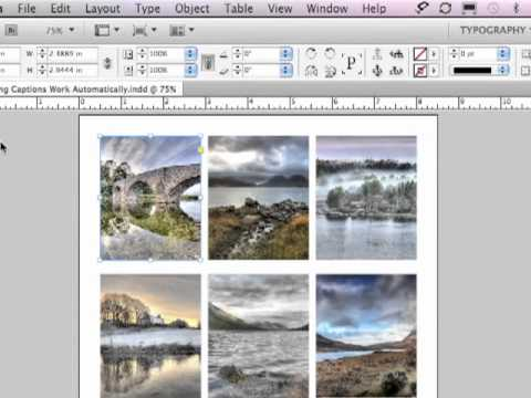 Adobe InDesign CS5.5 Tutorial - Captions