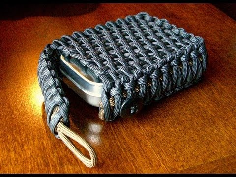 Survival Tin/Playing Card Paracord Pouch