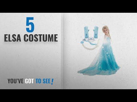 Top 10 Elsa Costume [2018]: Frozen Inspired Dress (4-5 Years, 5-Piece Elsa)