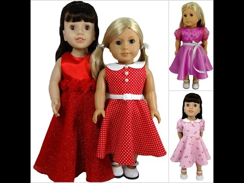 American Girl Doll Clothes Patterns 50's Vintage Dress