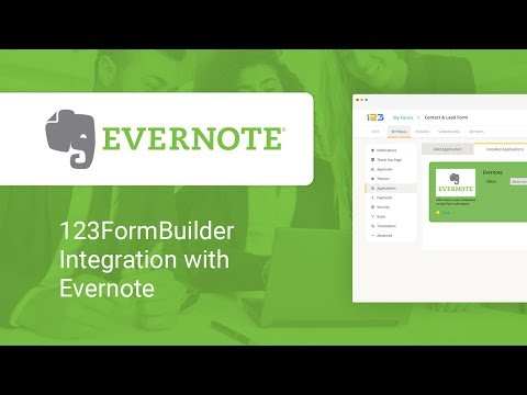 123FormBuilder - Evernote Integration Video Tutorial