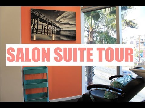 SALON SUITE TOUR! | SMALL SPACE STORAGE IDEAS | Brittney Gray