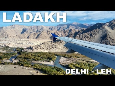 Flight from Delhi to Leh | Landing at Leh Airport Ladakh India