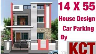 16' x 55' , 4 8m x 16 5m House Design , House Plan Map, 2BHK