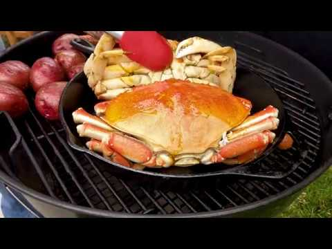 Dungeness Crab on the Weber Kettle