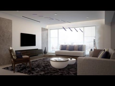 Ducted Air Conditioner in a Lounge Animation