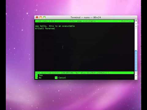 How to Create an Executable File in Terminal on Mac
