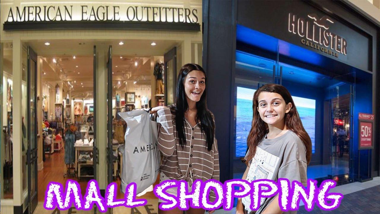 MALL SHOPPING TRIP! AMERICAN EAGLE/HOLLISTER SUMMER CLOTHING HAUL!
