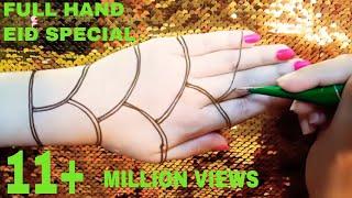 Full Hand Eid Special Mehndi Design    Beautiful simple and easy fuller mehndi design for eid