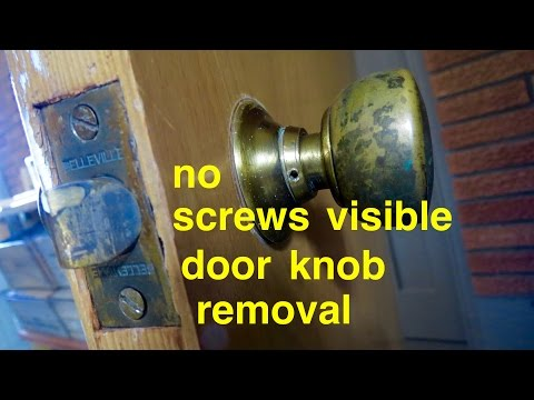How to ● Door Knob Removal ● no screws visible