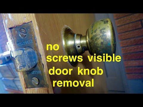 How to ● Door Knob Removal ● no screws visible