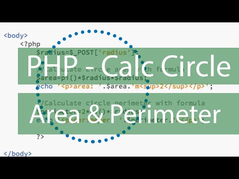 PHP Calculate Circle Area and Radius