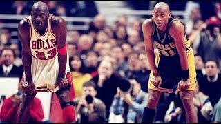'98 Playoffs Bulls vs Pacers - Final 1:35 of Game 4   Miller Time