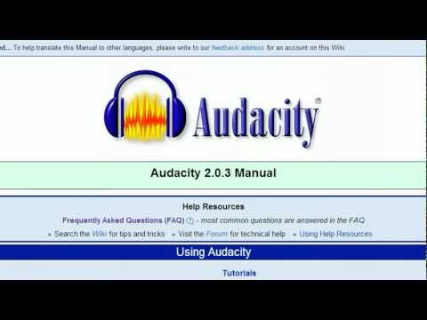 Record computer sound 'stereo mix' with Audacity Windows 7