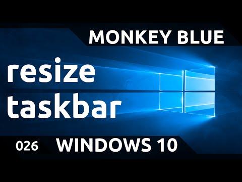 Windows 10: how to resize the taskbar