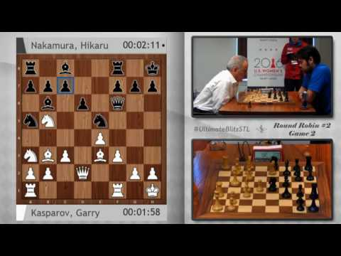 Kasparov's magic against Nakamura 2016 Ultimate Blitz Challenge   Round 5