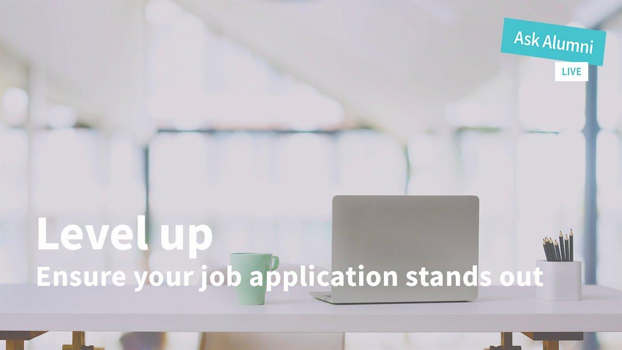 Ask Alumni Live: Job Applications