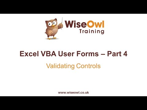 Excel VBA Forms Part 4 - Validating Controls
