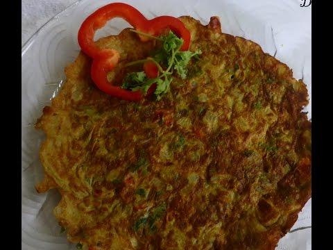 Masala Onion Omlet -Video recipe by deepstamilkitchen