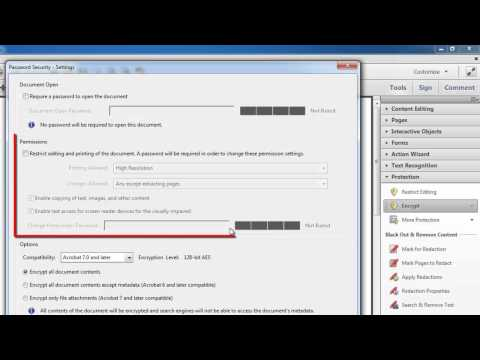 How to Protect PDF in Acrobat XI