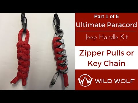 Ultimate Paracord Jeep Handle Kit-Part 1 of 5 – Zipper Pull or Key Chain