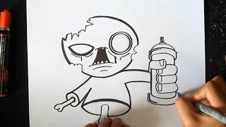Cmo dibujar Lata de Spray Graffiti  VidsM