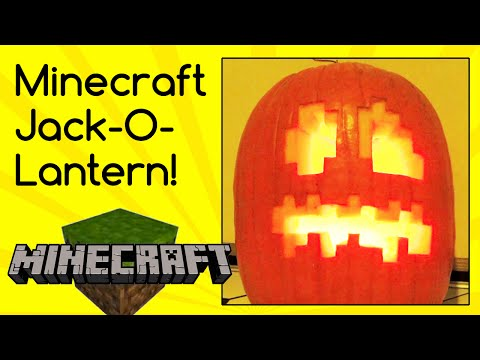 Epic Minecraft Jack-O-Lantern Halloween Pumpkin carving! Plus a three-eyed monster & creepy smiling!