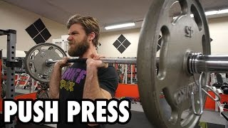 How to Perform the PUSH PRESS  - Shoulder Exercise Tutorial