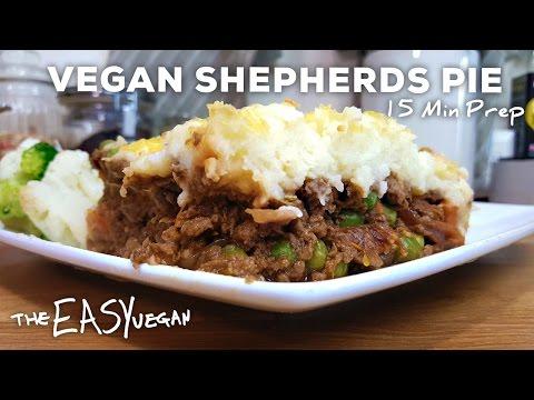 Cheesy Vegan Shepherd's Pie - 15 min Prep