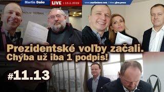Live: Prezidentské voľby začali. Chýba už iba 1 podpis! #11.13